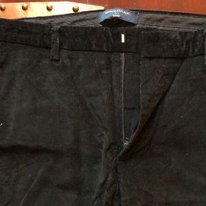 Banana republic black corduroy pants men's 33 x 32
